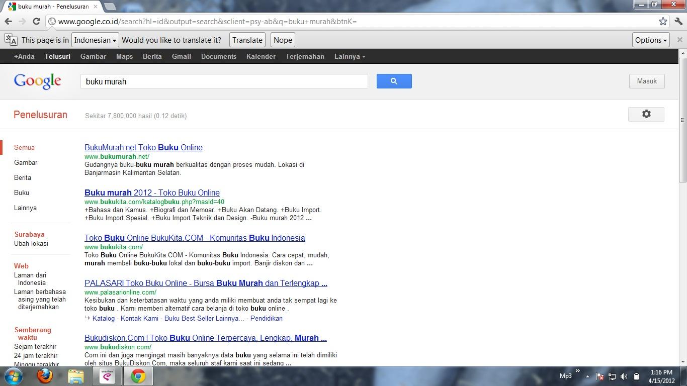 buku murah dot net posisi 1 di google